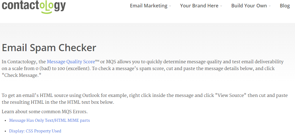 Email Spam Checker