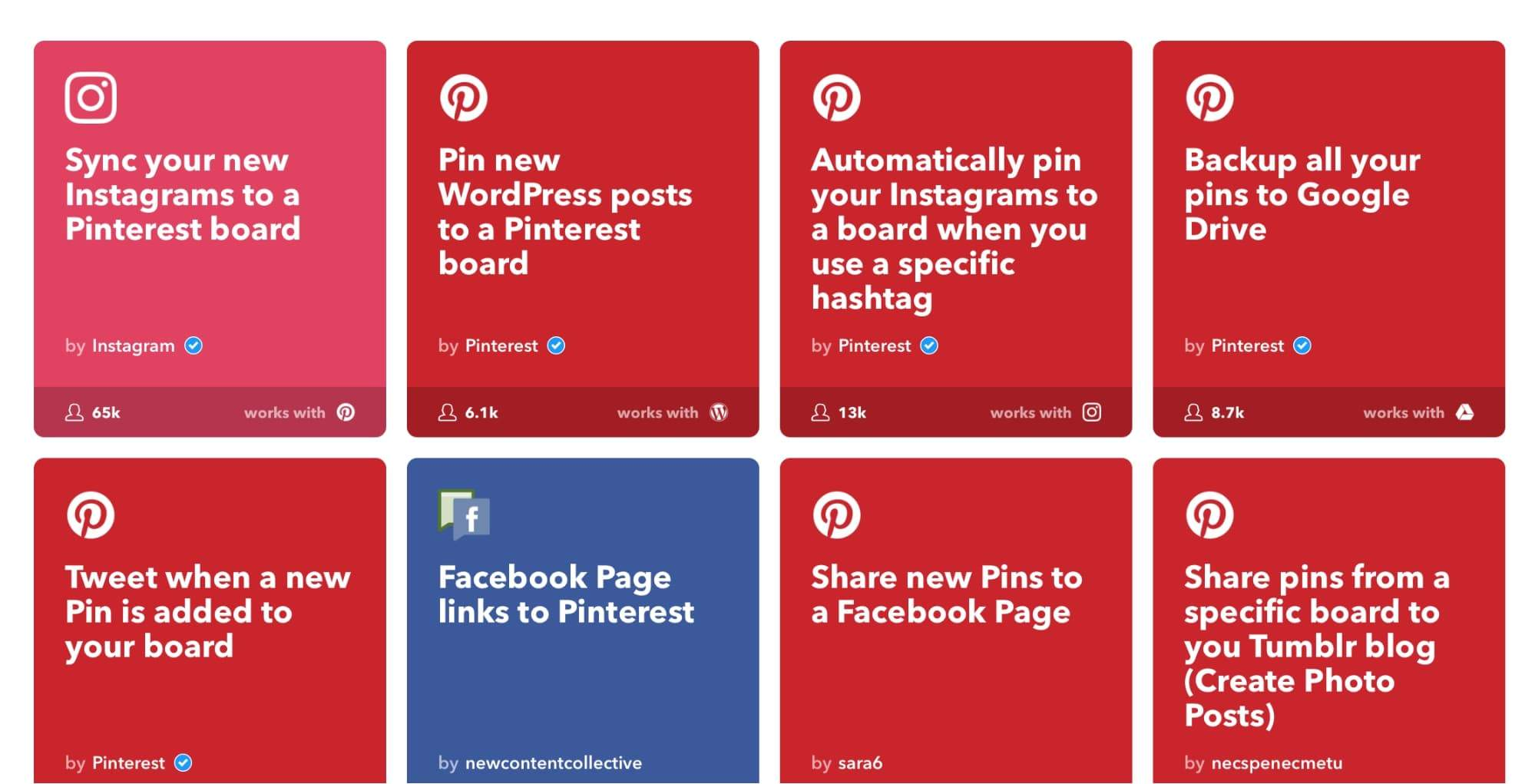 IFTTT for Pinterest